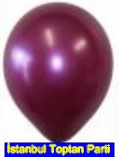 Baskısız bordo balon 12 inc balon